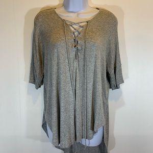 LUSH HiLo lace up blouse Sz Small